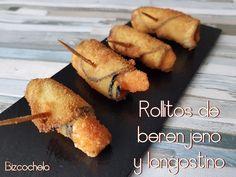 Rollitos de berenjena y langostinos | Cocina