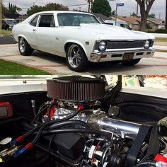 1969 Nova with a garage built 355ci with a B&M 142 supercharger pushing 6 pounds of boost to produce 375hp & 430 lb-ft at the wheels!