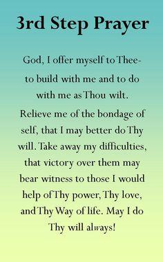 Step 3 prayer  http://www.cherylsbookmarks.com/GreetingCards.htm