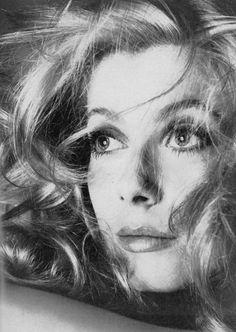 Catherine Deneuve photographed by Richard Avedon, Vogue US.