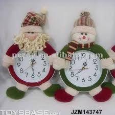 Resultado de imagem para relogios com artesanato natalinos