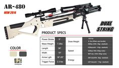 STS AR-480 Dual Ammo (Ball Bearings or Bolts) Crossbow