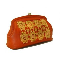 Add an Arabic touch to your ensemble with this handmade purse   http://www.ananasa.com/canna-orange-brown-and-yellow.html
