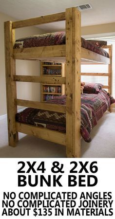 A Bunk Bed Build your own bunk bed. Super easy and super strong.Build your own bunk bed. Super easy and super strong. Bunk Beds With Stairs, Kids Bunk Beds, Adult Bunk Beds, Bed Stairs, Modern Bunk Beds, Rustic Bunk Beds, Pallet Bunk Beds, Wood Bunk Beds, Cabin Bunk Beds