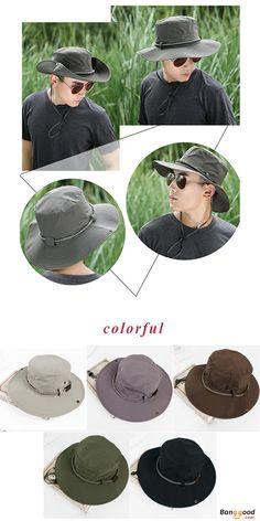 Unisex Men Women Summer Breathable Visor Bucket Hat Wide Birm Outdoor  Embroidery Sunshade Cap a0e74fe0d569