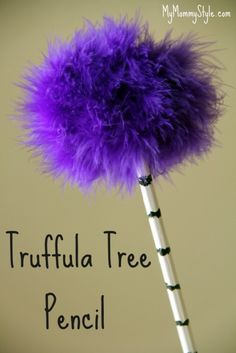 Celebrate Dr. Seuss' birthday with Truffula tree pencils at MyMommyStyle.com. So easy and cute!