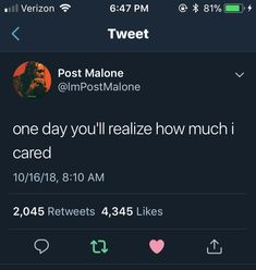 Don't ever question that | You & Me ️ ️ | Post malone ...