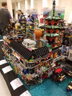 Lego Ninjago City, Lego City, Lego Movie Sets, Big Lego, Amazing Lego Creations, Lego Construction, Lego Modular, Lego Worlds, Lego Design