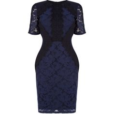 7f309628013d Buy Oasis Lace Patched Dress, Navy from our Oasis range at John Lewis &  Partners.