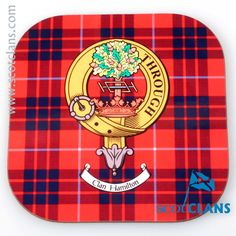 Hamilton Clan Crest Coasters. Free Worldwide Shipping Available