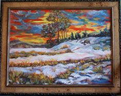 """""""Early Snow""""  18x24 Oil on Board"""
