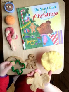 Sweet Smell of Christmas Play Dough Recipe for Kids - great holiday book extension idea!