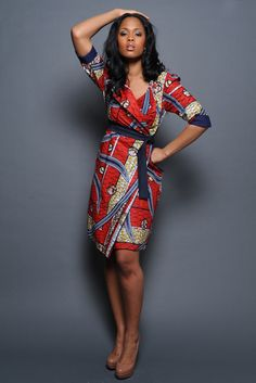 Pretty Vlisco Coat Dress ~