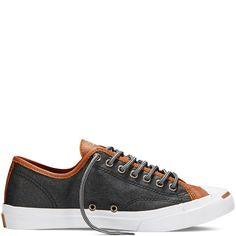 Converse - Jack Purcell Leather - Black - Low Top Converse Sneakers, Converse All Star, Converse Chuck, Dream Shoes, Crazy Shoes, Men's Shoes, Shoe Boots, Shoes Men, Baskets