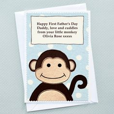 Personalised the card with your own text for Father's Day
