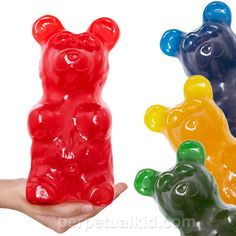 Got someone who LOVES Gummy Bears -- surprise them with a 4 pound Gummy Bear! Can you imagine getting that stuck in your teeth? EEK!