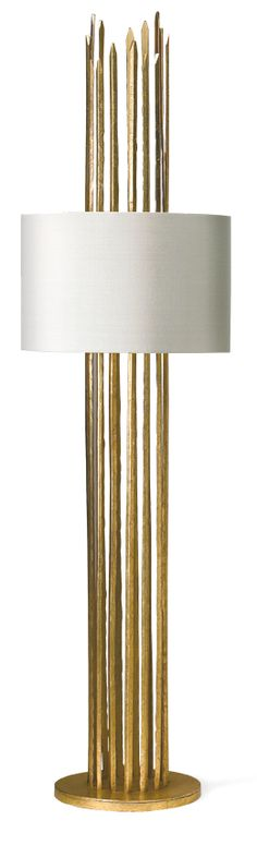 "Table Lamps, 42"" Tall Gold Contemporary Sculpture Table Lamp, so beautiful, inspire your friends and followers interested in luxury interior design, with new trending accents from Hollywood courtesy of InStyle Decor Beverly Hills, Luxury Designer Furniture, Lighting, Mirrors, Home Decor & Gifts, over 3,500 inspirations to choose from and share with our simple one click Pinterest Pin button enjoy & happy pinning"
