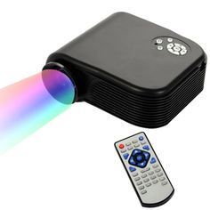 [$56.80] H88 Full HD 1080P Home Theater Mini Projector for Video Games TV Movie, Support Double HDMI / VGA / AV / Double USB(Black)