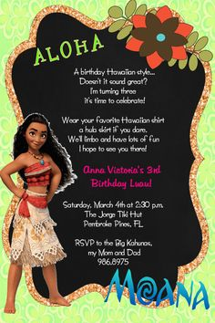 more information more information free moana birthday invitation template