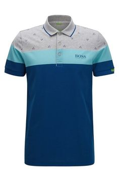 Polo regular fit in misto cotone Mens Polo T Shirts, Cut Shirts, Polo Shirt, Moda Polo, Polos Lacoste, Tartan Men, Le Polo, Batman T Shirt, Shirt Designs