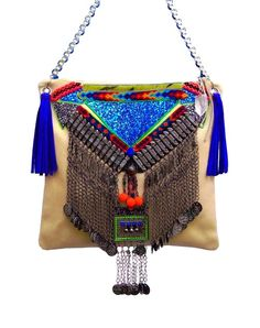 """The Aglaea"" Handmade Luxury Embellished Gypset Leather handbag by GreenEyeRocks"