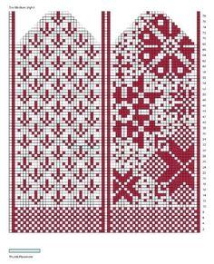 "Вязание. Жаккард - ""Зимняя радуга""'s photos – 11 albums | VK Crochet Mittens Free Pattern, Knit Mittens, Knitted Gloves, Knitting Socks, Loom Knitting, Hand Knitting, Knitting Charts, Knitting Stitches, Knitting Patterns"