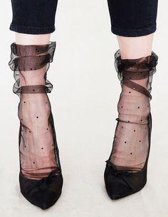heels and sheer socks