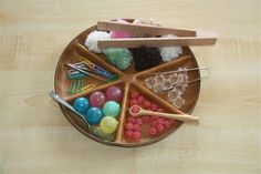 """I love this blog - all about Montessori PReschool lessons. I've created a 12 bin organizer filled with different activities for the boys to do """"school"""" - I'm not Montessori trained, but I can copy this gal's amazing ideas!"""