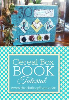 A quick and thoughtful scrapbook gift for anyone using this cereal box craft tutorial. Diy Arts And Crafts, Book Crafts, Crafts To Make, Fun Crafts, Paper Crafts, Card Crafts, Craft Gifts, Diy Gifts, Rainbow Crafts