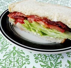 BLT with special bacon to make next summer with fresh tomatoes!