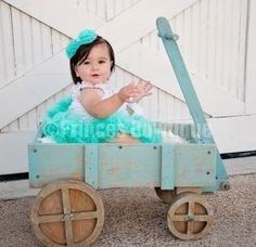 Aqua Teal Baby Girl Pettiskirts