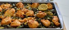 One Sheet Roasted Chicken and Brussels Sprouts - Joy Bauer Joy Bauer Recipes, Baked Penne, One Pan Chicken, Chicken Gravy, Chicken Pasta, Cooking Recipes, Healthy Recipes, Cooking Ideas, Yummy Recipes