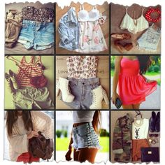 Summer Fashion Collage | Collage. Teen fashion. Summer outfits