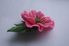 Felted brooch-Brooch felt flower-Flower brooch from YuliasFeltworld by DaWanda.com