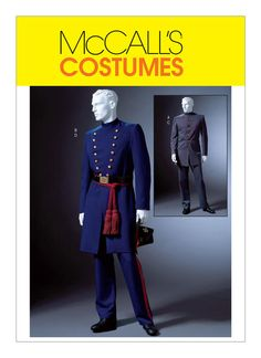 Pattern Number: McCalls Description: Mens Civil War Costume Date: 2004 Cut/Uncut: uncut, factory fold If multiple size ranges are listed below, please select your choice from the drop-down menu. Size: S-M-L (Chest Size: XL-XXL-XXXL (Chest See the Soldier Costume, Frock Coat, Civil War Dress, Costume Patterns, Costume Ideas, Cosplay Ideas, Mccalls Sewing Patterns, Historical Costume, Couture