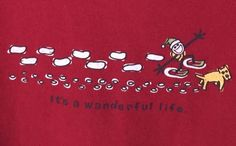 Life Is Good Crusher T-shirt It's A Wanderful Life Jake Rocket Sz L Long Sleeve #LifeIsGood #GraphicTee