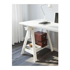 ikea klimpen finnvard table white plenty of room on the - Drafting Table Ikea