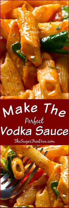 Make the Perfect Vodka Sauce- this is so easy to make and tastes so delicious too!!