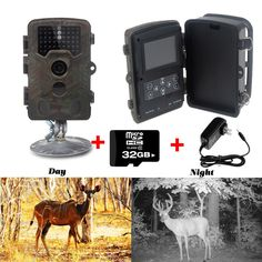 114.99$  Buy here - http://alijzl.worldwells.pw/go.php?t=32658616786 - Free Shipping!32GB Card+ H801W 12MP Infrared IR Digital Trail Game Hunting Camera +6V 2A Adaptor 114.99$