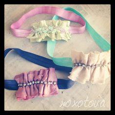 Girls Tiffany stretch headband by xoxotova on Etsy, $12.00