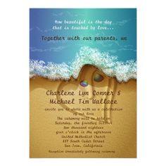 "5"" x 7"" Beach  Shell Wedding Invitation"