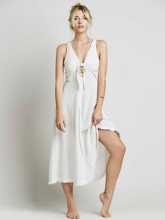 Free People Shore Thing Midi Dress at Free People Clothing Boutique