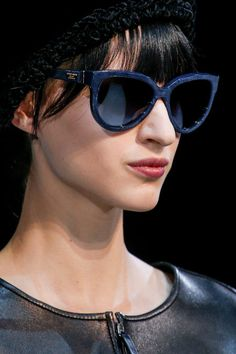 Giorgio Armani, Осень-зима Ready-To-Wear, Милан Giorgio Armani, Black Lace Up Shoes, Fall Accessories, Costume Accessories, Patent Leather Pumps, Indigo Blue, Sunglasses Women, Sunglasses 2014, Sunglasses Store