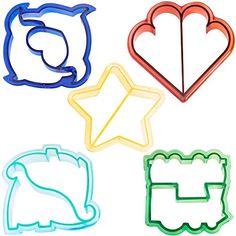 VonShef spaßige Kuchen, Plätzchen & Sandwich Schneidformen für Kinder - Satz aus 5: Dinosaurier, Delfine, Herz, Stern & Zug VonShef http://www.amazon.de/dp/B00HELVJBM/ref=cm_sw_r_pi_dp_yEQMwb00VYN4P