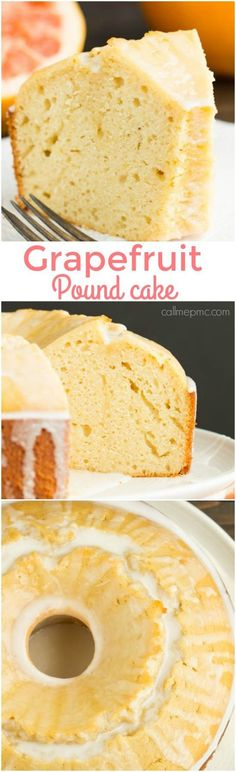 Ruby Red Grapefruit Pound Cake recipe, tart and sweet, this dessert is inventive, interesting, and unique. Best Dessert Recipes, Easy Desserts, Sweet Recipes, Delicious Desserts, Cupcake Recipes, Drink Recipes, Grapefruit Pound Cake Recipe, Pound Cake Recipes, Grapefruit Recipes Dessert
