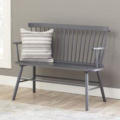 Modern farmhouse entryway bench.  Farmhouse furniture for less on the blog!