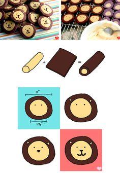 日本人のおやつ♫(^ω^) Japanese Sweets ライオンクッキー Lion cookies!