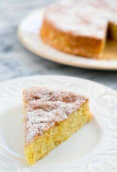 A gluten-free, light and airy lemon cake make with almond flour, eggs, and sugar. Perfect for a holiday dessert! ~ SimplyRecipes.com