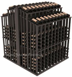 Wooden 480 Bottle Double Reveal Aisle Wine Cellar Rack Storage Kit in Pine with Black Stain + Satin Finish by Wine Racks America®. $1292.60. Double deep wine display perfect for high volume retail wine stores. The double reveal display allows customers to read bottle labels on two different tiers. Wine Racks America Retail Edge Series easily accepts price tags and labels and fits most 750ml wine bottles. Always ships free, order today! The Wine Racks America Retail Edge Se...