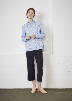 Show details for Katja Blouse - Cotton Blue